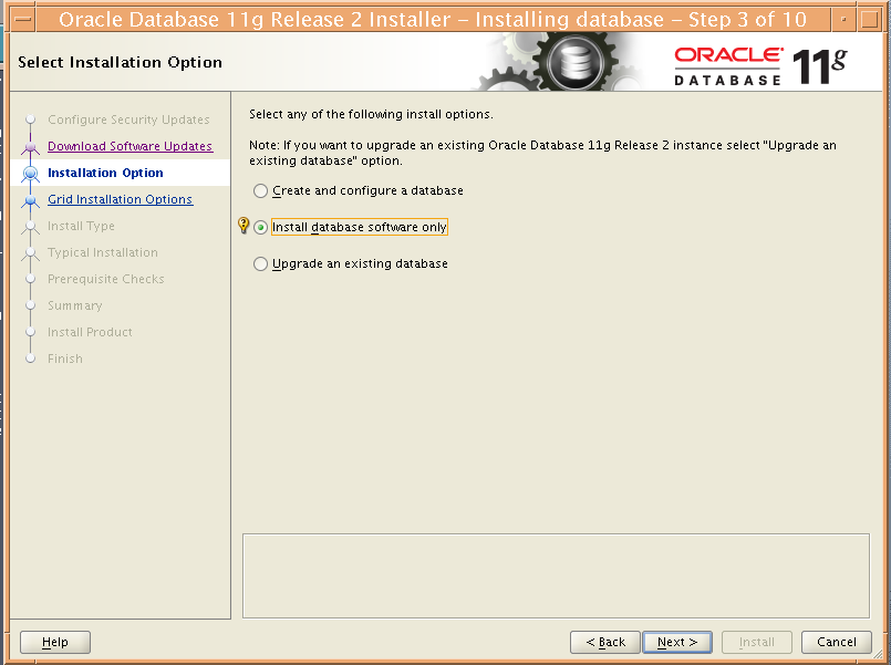 Installing an Oracle